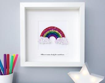 Rainbow baby gift, nursery decor, Rainbow wall art, baby shower, gender neutral, kids room decor, nursery art
