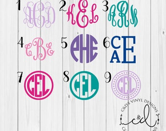 Monogram Decal - Monogram Sticker - Monogram Decals - Monogram Laptop Decal - Car Decal - Custom Cup Decal - Monogram Car Decal - Monogram