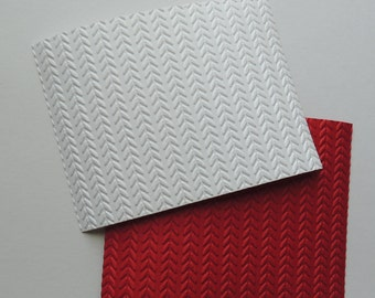 Cable Knit #2 Embossed Cardstock, Embossed Sheets, Embossed Card Fronts
