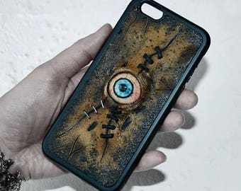 iPhone case Horror Zombie eyes Custom phone case Gift Undead Necronomicon Horror phone case Creepy phone case Mutation Taxidermy Anatomy