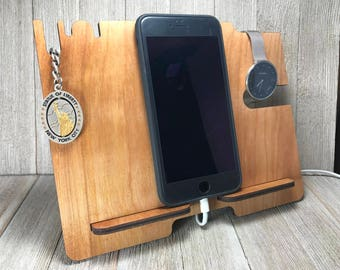 iPhone Stand - Mobile phone & tablet Docking Station - Charging Station - Bedside or Desk Tidy - Smart Phone Samsung