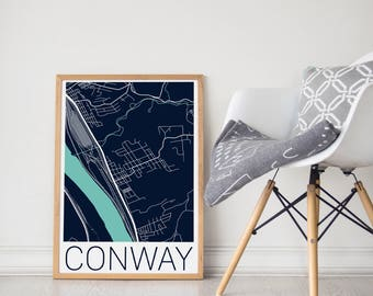 Conway / Conway PA / Conway Map / Conway Poster / Conway PA Map / Conway Poster / Conway Map Print