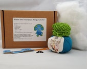 Walter the Triceratops Dinosaur Amigurumi Plushie Crochet Craft Kit