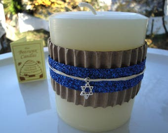 """Pillar Candle 100% Pure Beeswax 