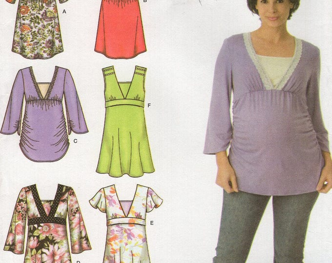 FREE US SHIP Uncut Maternity Blouse Top Simplicity 3762 Sewing Pattern Size 14 16 18 20 22 Bust 36 38 40 42 44 46 New ff