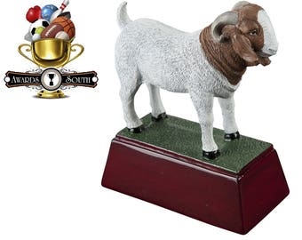Color Goat Resin Award - Goat Contest Trophy - Greatest of All Time  - Free Personalization