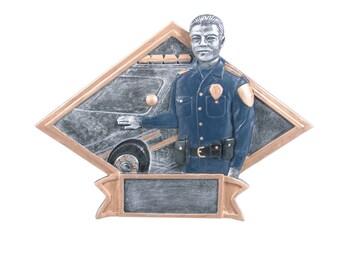 CLOSEOUT - Policeman Diamond Resin Award - Police Officer Trophy - Cop - Patrolman