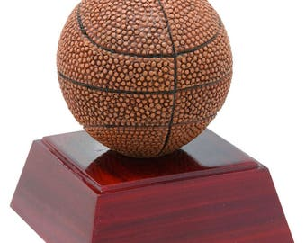 Color Resin Basketball Award - 4 Inches Tall - Free Engraving - Basketball Trophy