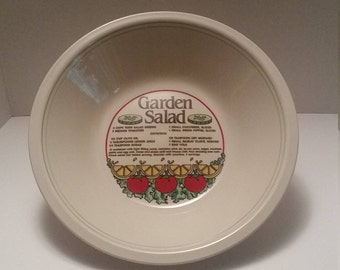 Mount Clemens Pottery Garden Salad Bowl