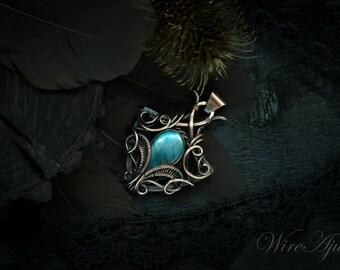 labradorite pendant wire wrapped pendant mens pendant gift for him wire wrap copper pendant gift for men labradorite necklace unisex pendant