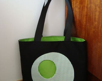 Large basket is designed in a beautiful cotton