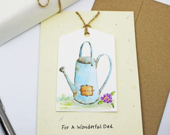 For Dad Watercolour Seeded Greeting Card  Plantable- Painted By Hand