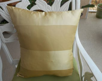 """Gold and Beige Silk throw Pillow, Qty-1, Size 18x15"""", 20.00 each"""