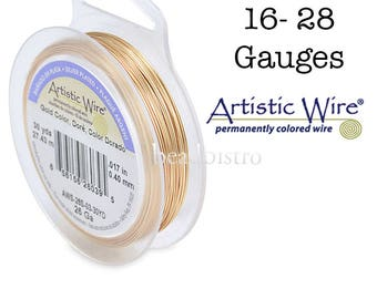 GOLD Artistic Wire Tarnish Resistant SILVER Plated Craft Wire