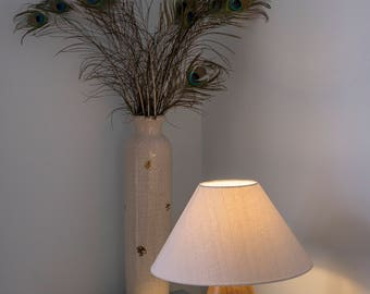Table - Desk  lamp - wooden - individually crafted from English hardwood