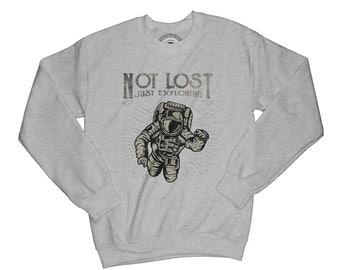 Astronaut sweatshirt just exploring sweatshirt adventure sweatshirt journey sweatshirt cosmos sweatshirt universe sweatshirt     AP13