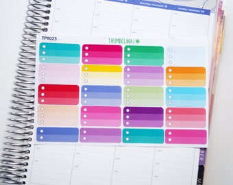 Ombre Checkbox Stickers for the Hourly Erin Condren Life Planner (TPY025)