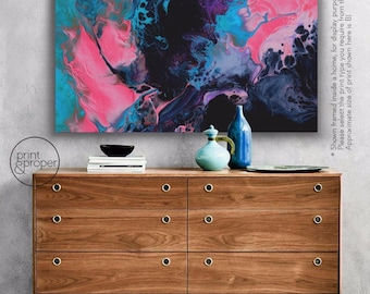 ABSTRACT FLUID PAINT - Art Print Poster Canvas - On Trend