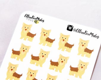Yorkie Dog Decorative Stickers