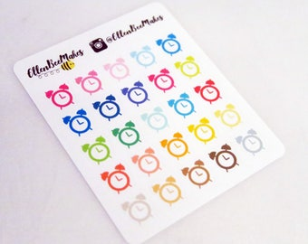 Rainbow Alarm Clock Stickers
