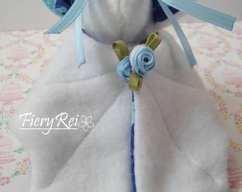 Cute White and Blue Bat Plush!