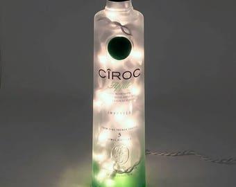 Ciroc Apple Vodka Bottle Lamp / Vodka / Gifts for Men /  Gift Ideas