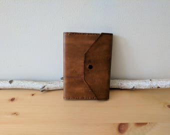 Distressed Leather Journal, Refillable (Snap Closure) 4x6