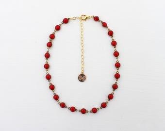 Chain Choker - Red Dot