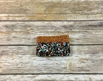 Vintage Seed Bead Coin Purse | Novelty Change Purse | Retro Small Embellished Pouch