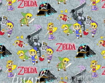 Woven Fabric - Nintendo Zelda Spirit Tracker - Fat Quarter Yard +