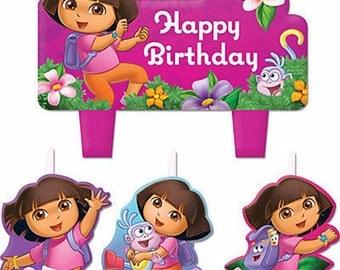 Dora the Explorer Cake Candle Set 4ct