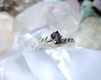 Sterling Silver Ring Amethyst Size 9