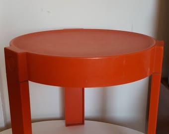 plastic orange nesting table