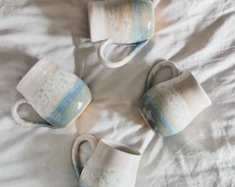 Stoneware Mug - 'At the Beach Mug' - Handmade Mug - Ready to Ship