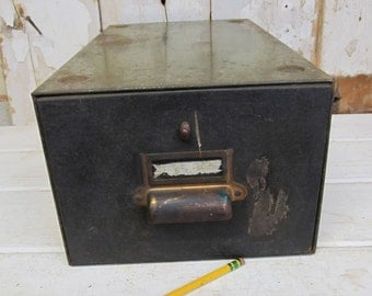 Vintage Industrial Office File Box,  Industrial Decor