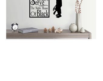 Harry Potter House Elf Kreacher Wall Decal/w custom Last Name