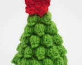 Christmas tree ornament crochet pattern