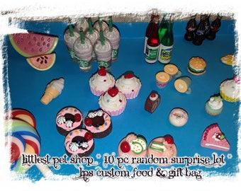 Littlest Pet Shop*10 PC Random Surprise lot *Custom Food
