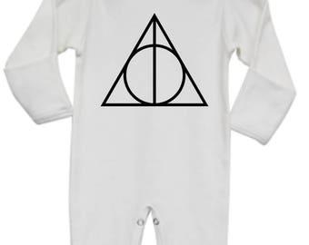 Harry Potter Baby Pajamas, Deathly Hallows Baby Pajamas