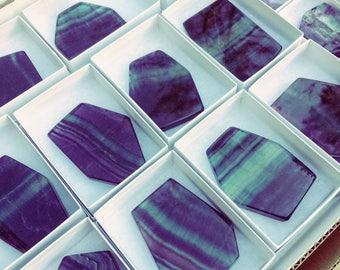 Rainbow Fluorite Slab - one piece
