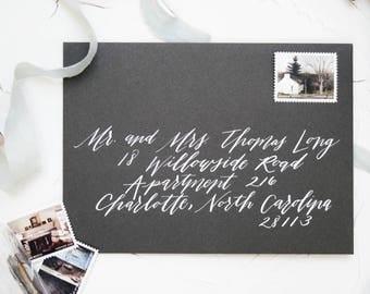 Custom Envelope Calligraphy-Wedding Envelope Calligraphy Addressing-Handwritten Custom Calligraphy Envelope {Contempo Style}