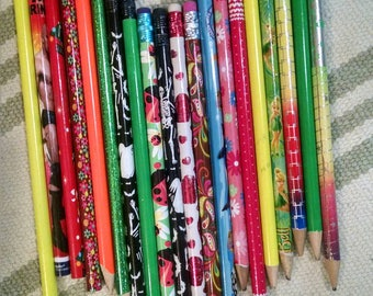 Lot of Bright and Colourful Pencils