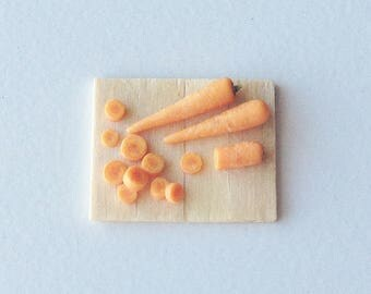 Dollhouse Miniature Food | Miniature Carrots