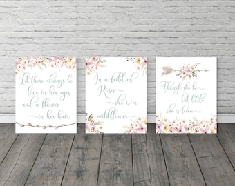 Wall art quotes, Watercolor flowers, Nursery wall art, Gift for her, Playroom Decor, Baby shower, Inspirational Quotes, Quotes, Baby gift