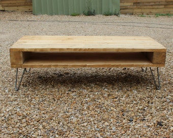 Handmade Rustic Coffee Table / TV Console