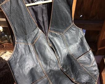 Sante Fe Black Leather Vest