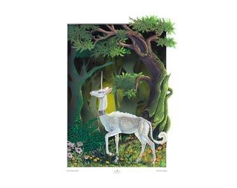 Unicorn Print 'Never Tamed' (Detail) Fine Art Print