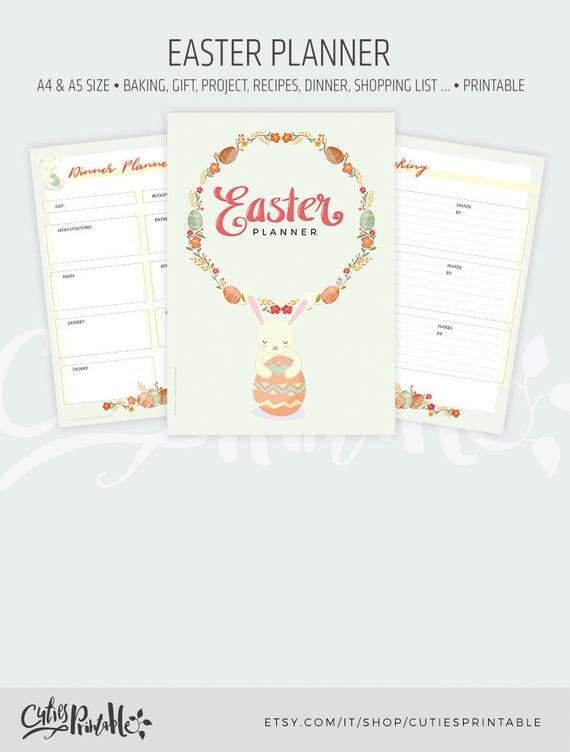 Easter planner spring planner easter organizer easter easter planner spring planner easter organizer easter menu plan negle Images