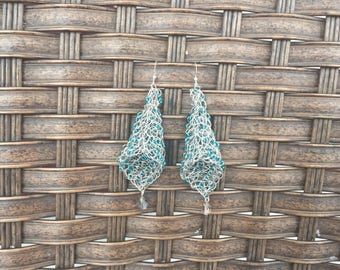 Crochet Wire Earrings Beaded Earrings Wire Jewelry Beaded Jewelry