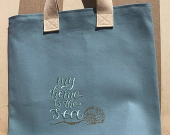 My Home Is The Sea Tote Bag